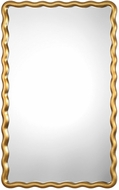 Uttermost 09338 Cosimia Contemporary Metallic Gold Wall Mirror