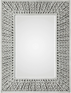 Uttermost 09342 Narmada Aged Ivory Gray Bamboo Strip Wall Mirror