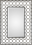 Uttermost 09347 Leveen Modern Iron Rings Wall Mounted Mirror