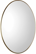 Uttermost 09353 Pursley Brass Oval Wall Mirror