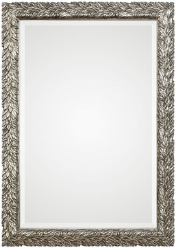 Uttermost 09359 Evelina Silver Leaves Wall Mirror