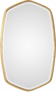 Uttermost 09382 Duronia Modern Lightly Antiqued Gold Leaf Wall Mounted Mirror