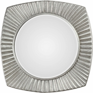 Uttermost 09383 Flabella Lightly Antiqued Metallic Silver Leaf Wall Mirror