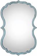 Uttermost 13925 Nicola Antiqued Light Blue / Dark Bronze Light Blue Mirror