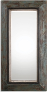 Uttermost 13930 Bronwen Aged Black / Rust Brown Distressed Leaner Mirror