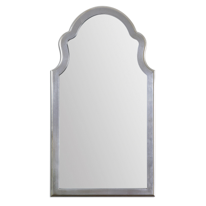 Tall Wall Mirrors uttermost 14479 brayden lightly antiqued silver leaf finish 48