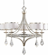 Uttermost 21268 Tamworth Burnished Silver Champagne Leaf Chandelier Light
