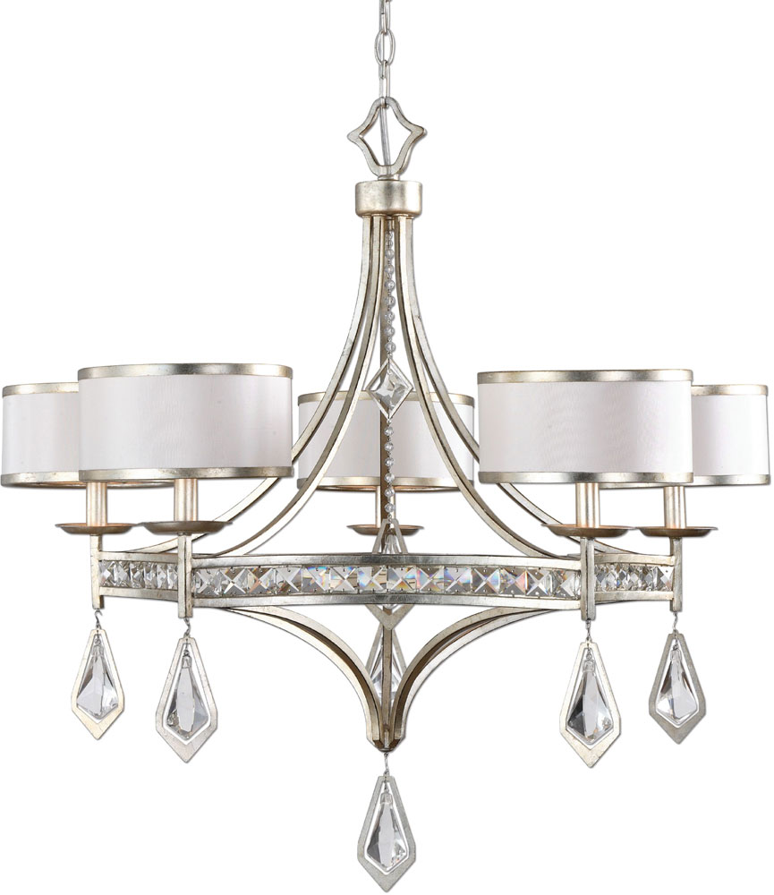 Uttermost 21268 tamworth burnished silver champagne leaf uttermost 21268 tamworth burnished silver champagne leaf chandelier light loading zoom arubaitofo Choice Image