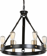 Uttermost 21273 Marlow Retro Dark Antique Bronze & Weathered Bronze Lighting Chandelier
