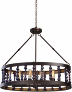 Uttermost 21287 Mandrino Oil Rubbed Bronze Drum Pendant Lighting