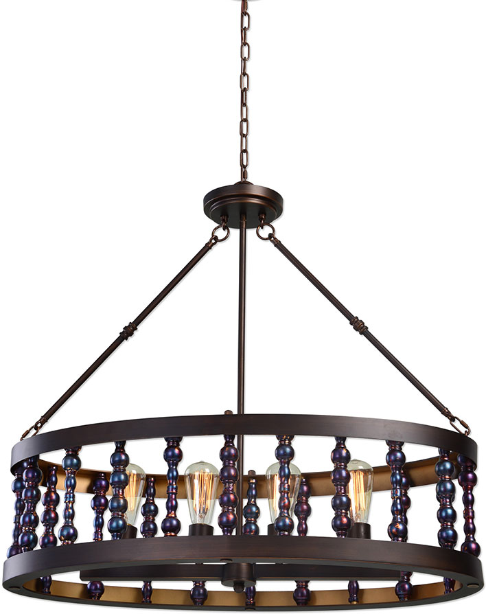 Uttermost 21287 Mandrino Oil Rubbed Bronze Drum Pendant Lighting. Loading  Zoom