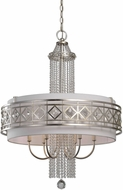 Uttermost 21293 Tamela Silver Leaf Drum Pendant Light