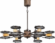 Uttermost 21314 Gavia Modern Heavily Antiqued Plated Brass Lighting Chandelier
