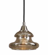 Uttermost 22006 Arborea Contemporary 7 Inch Tall Mercury Glass Mini Lighting Pendant