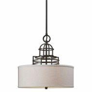 Uttermost 22021 Cupola 68  Tall Drum Hanging Pendant Lighting