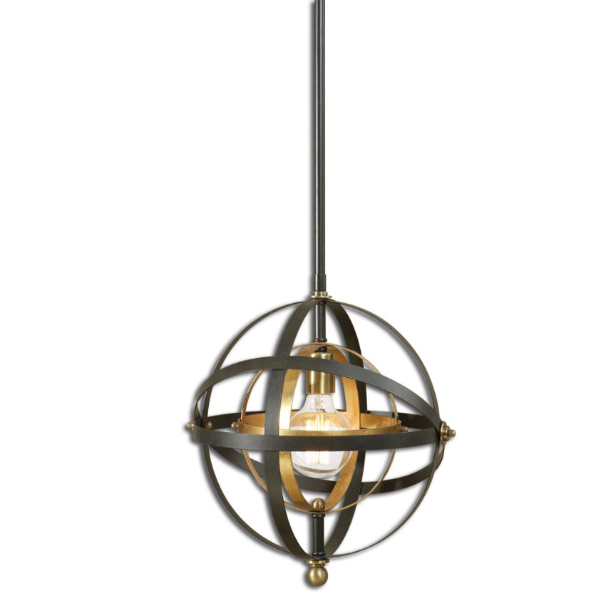 Uttermost 22039 Rondure Modern Dark Oil Rubbed Bronze Finish 52u0026nbsp; Tall Pendant L&. Loading zoom  sc 1 st  Affordable L&s & Uttermost 22039 Rondure Modern Dark Oil Rubbed Bronze Finish 52 ... azcodes.com