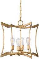Uttermost 22074 Dore Gold Leaf Finish & Paint Finish Foyer Lighting