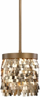 Uttermost 22077 Tillie Modern Textured Gold Mini Pendant Hanging Light