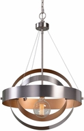 Uttermost 22095 Anello Modern Brushed Nickel Pendant Lamp