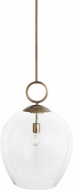 Uttermost 22127 Calix Modern Aged Brass Pendant Light Fixture