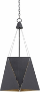 Uttermost 22136 Lustig Contemporary Dark Bronze Outside & Antique Gold Leaf Inside Hanging Light Fixture