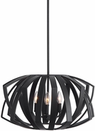 Uttermost 22137 Thales Modern Matte Black Drop Lighting