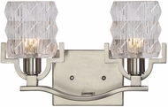 Uttermost 22865 Copeman Modern Brushed Nickel Halogen 2-Light Bathroom Lighting