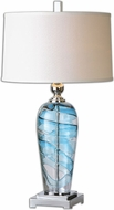 Uttermost 26137-1 Andreas Blown Glass 17  Wide Table Top Lamp
