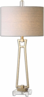 Uttermost 26144-1 Leonidas Gold 17  Wide Table Lamp Lighting