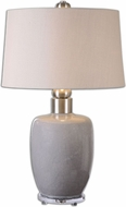 Uttermost 26147 Ovidius Gray Glaze 32  Tall Table Lamp