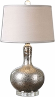 Uttermost 26157 Aemilius Gray Glass 15.5  Wide Table Lamp
