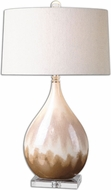 Uttermost 26171-1 Flavian Glazed Ceramic 18  Wide Table Top Lamp
