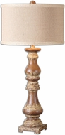 Uttermost 26175-1 Montoro Dark Pecan 16  Wide Table Lighting