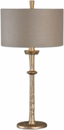 Uttermost 26188 Heraclius Lightly Antiqued Gold Leaf Finish 32 Tall Table Lamp