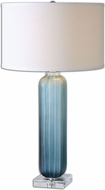 Uttermost 26193-1 Caudina Polished Nickel Finish 16 Wide Table Top Lamp