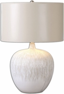 Uttermost 26194-1 Georgios Distressed Aged Ivory Finish 23.25 Tall Side Table Lamp