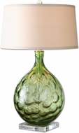Uttermost 26199 Florian Polished Nickel Finish 19 Wide Table Lamp Lighting