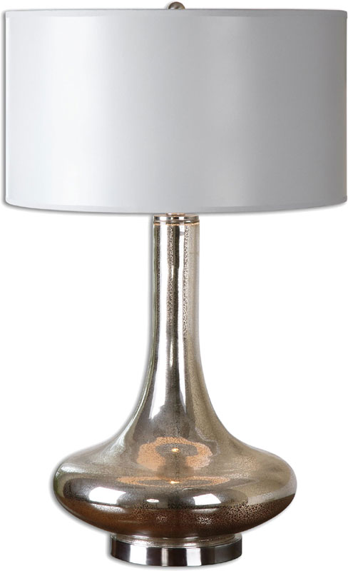 Uttermost 26200 1 fabricius brushed nickel finish 30 tall table top lamp loading zoom