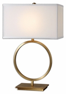 Uttermost 26559-1 Duara 28 Inch Tall Contemporary Brushed Brass Table Lamp