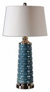 Uttermost 26567 Delavan Transitional Scalloped Ceramic Table Lighting - 32 Inches Tall