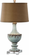Uttermost 26600 Molara Aged Blue Table Top Lamp