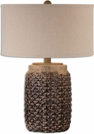 Uttermost 26612-1 Bucciano Textured Ceramic Lighting Table Lamp