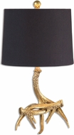 Uttermost 26617-1 Golden Antlers Modern Heavily Antiqued Gold Table Lamp Lighting