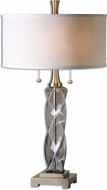 Uttermost 26634-1 Spirano Gray Glass Table Lamp Lighting
