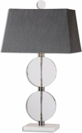 Uttermost 26646 Telesino Crystal Disk Table Lighting