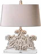 Uttermost 26658 Schiavoni Ivory Stone Table Light