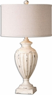 Uttermost 26659-1 Tavernola Crackled Ivory Table Lighting