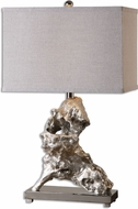 Uttermost 26662-1 Rilletta Metallic Silver Table Lamp Lighting