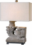 Uttermost 26665-1 Vertova Aged Walnut Table Top Lamp