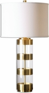 Uttermost 26669-1 Angora Brushed Brass Table Lighting